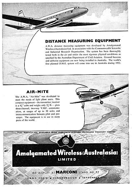AWA - Amalgamated Wireless (Australia) Ltd - DME - Air-Mite VHF