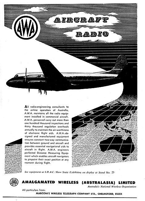 Amalgamated Wireless Australia AWA. Aircraft Radio Equipment