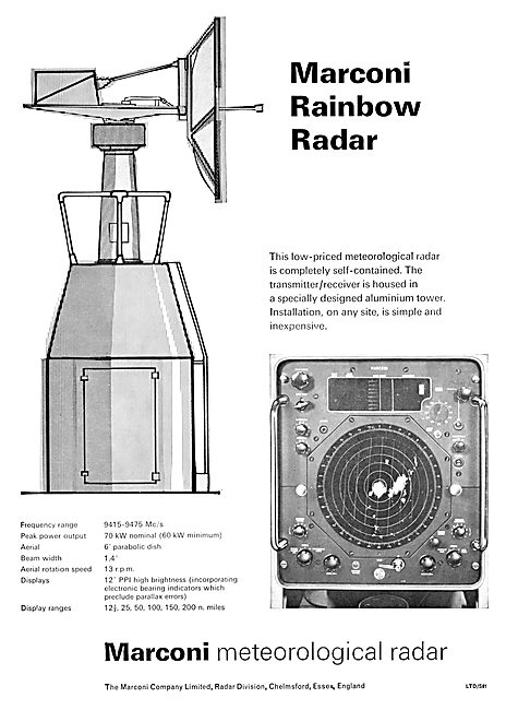 Marconi Rainbow Meteorological Radar