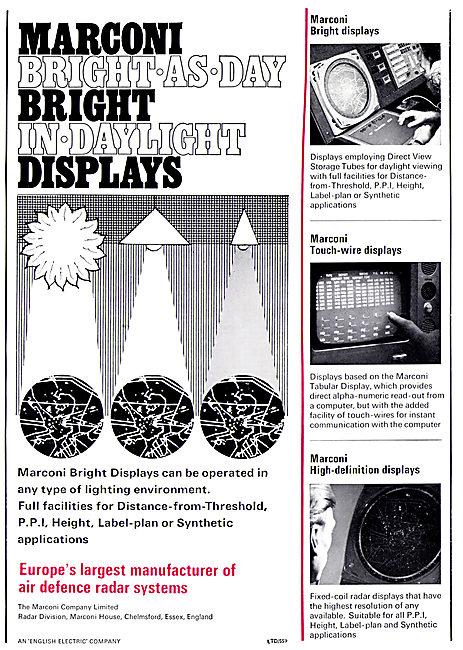 Marconi ATC Radar Displays