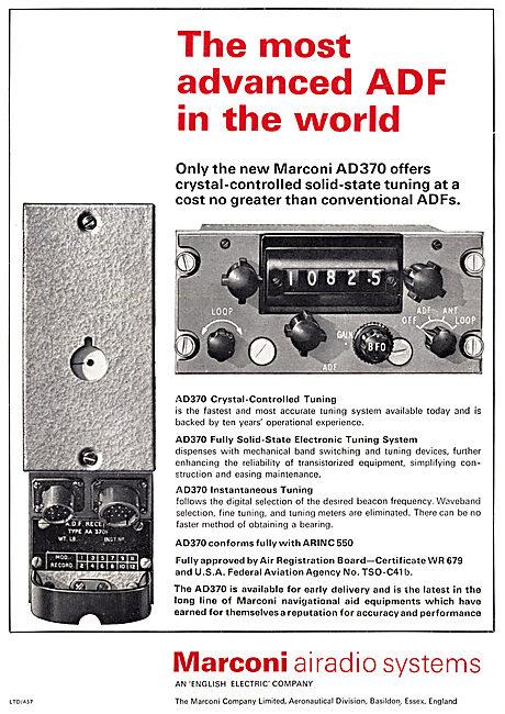Marconi AD370 Airborne ADF