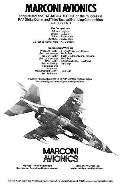 Marconi  Digital Inertial Navigation & Weapons Aiming Systems
