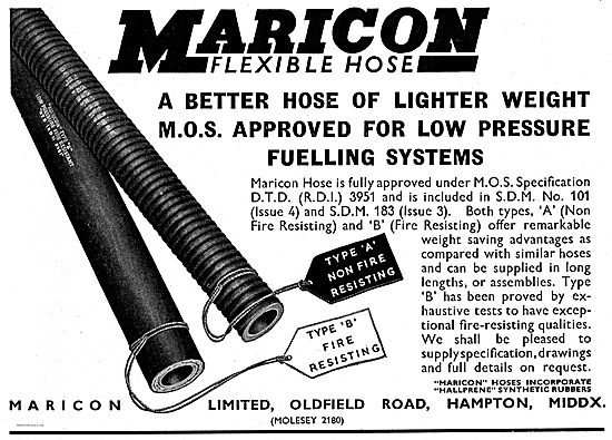 Maricon Flexible Hoses For Low Pressure Aircraft Refuelling