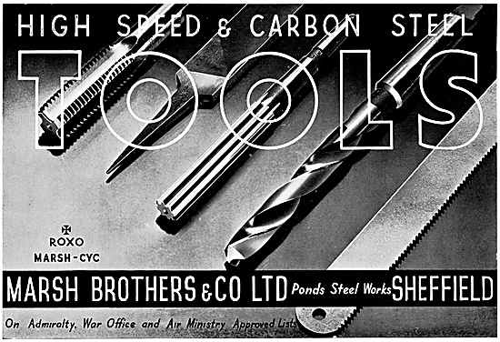 Marsh Brothers High Speed & Carbon Machine Tools