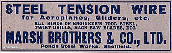 Marsh Brothers Steel Tension Wire For Aeroplanes & Gliders