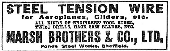 Marsh Brothers Steel Tension Wire For Aeroplanes