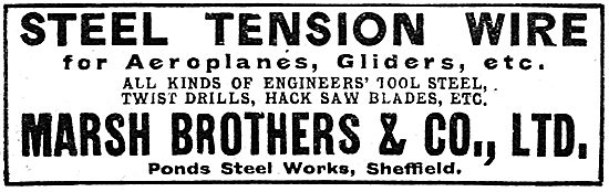 Marsh BrothersSteel Tension Wire For Aeroplanes & Gliders