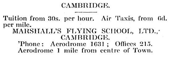Marshalls Flying School - Cambridge Airport