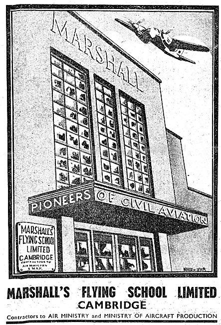 Marshall's Flying School Cambridge 1943 Advert