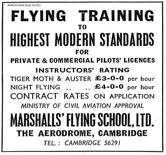 Marshalls Flying School Cambridge. Training The Highest Standards