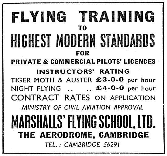 Marshall's Flying School Cambridge