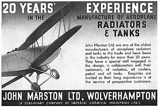 John Marston Ltd - Aircraft Radiators