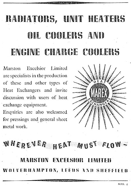 Marston Excelsior Flexible Fuel Tanks & Heat Exchangers