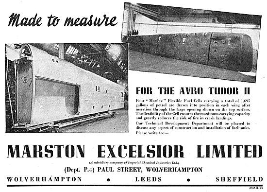 Marston Excelsior Marflex Flexible Fuel Cells