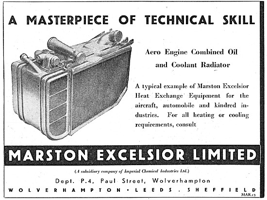 Marston Excelsior Radiators, Oil Coolers & Heat Exchange Products