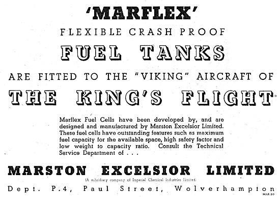Marston Excelsior Marflex Flexible Fuel Tanks
