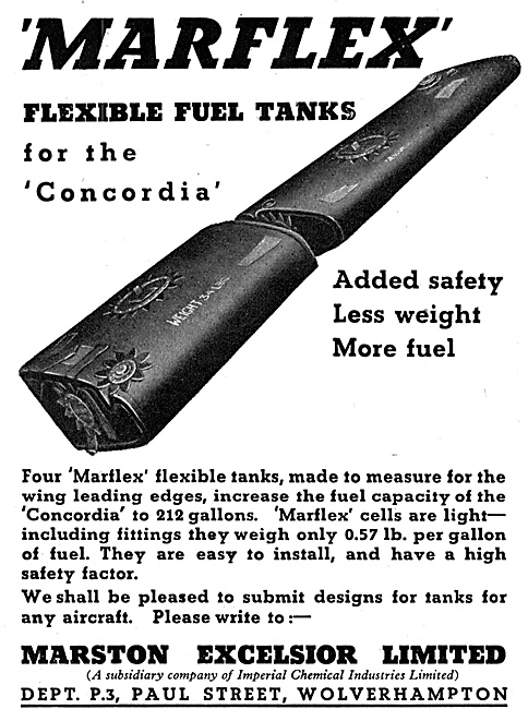Marston Excelsior Marflex Flexible Fuel Tanks