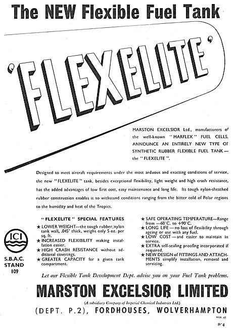 Marston Excelsior FLEXELITE Flexible Fuel Tanks