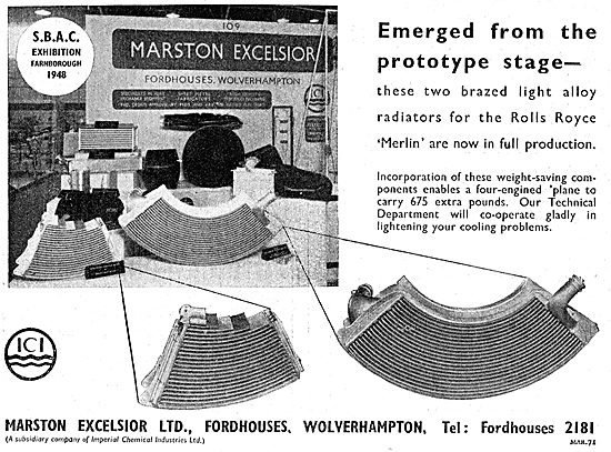 Marston Excelsior Flexible Fuel Tanks & Heat Exchangers
