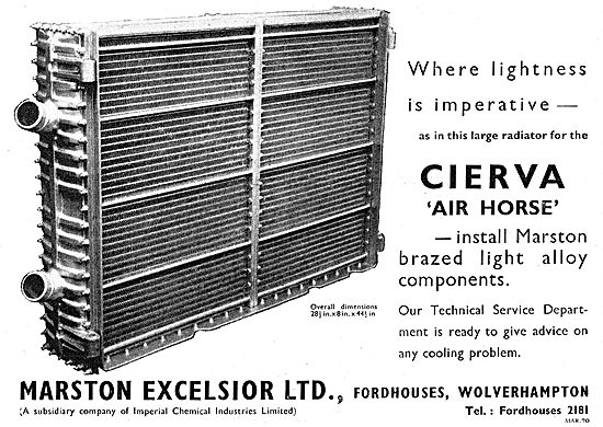 Marston Excelsior Aircraft Radiators & Heat Exchange Equipment