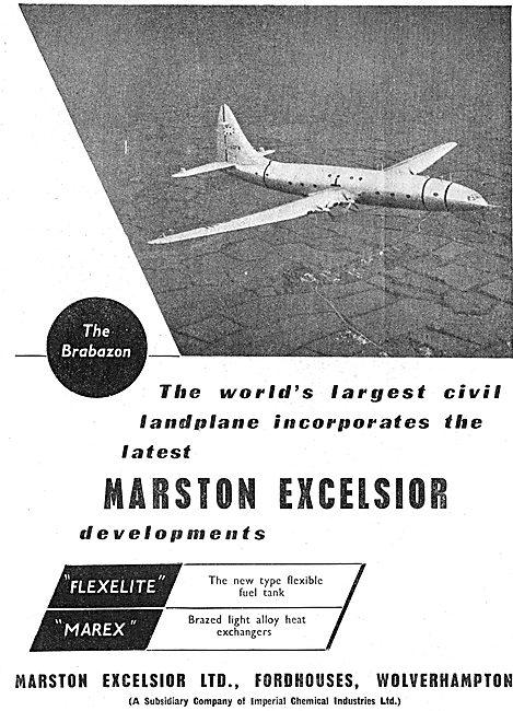Marston Excelsior  FLEXELITE  Fuel Tanks & MAREX Heat Exchangers