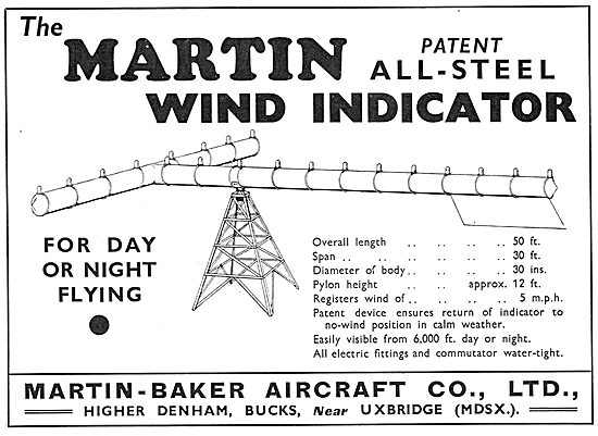The Martin Wind Indicator For Day Or Night Flying