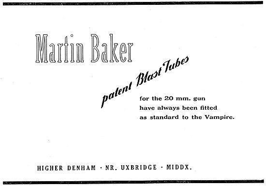 Martin-Baker Blast Tubes For 20mm Vampire Guns