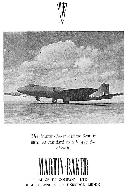 Martin-Baker Ejection Seats For The Canberra