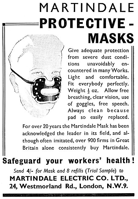 Martindale Electric Protective Masks For Personnel