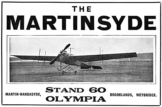 Martin-Handasyde - Martinsyde Monoplane 1913