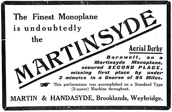 Martinsyde Monoplane 1913 - Martin & Handasyde