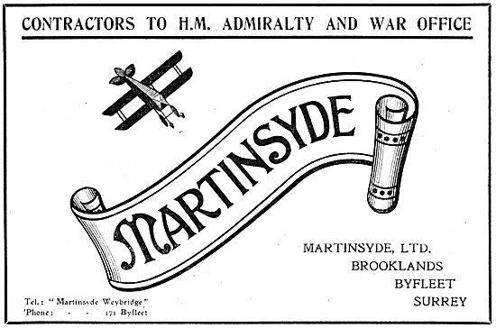 Martinsyde Aeroplanes