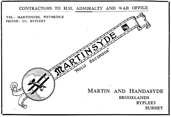 Martinsyde Aeroplanes - Nulli Secundus