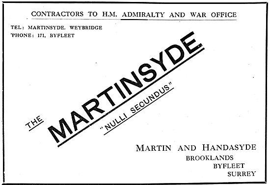 Martin & Handasyde Aeroplanes - Brooklands