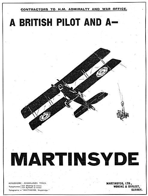 Martinsyde Aircraft 1916