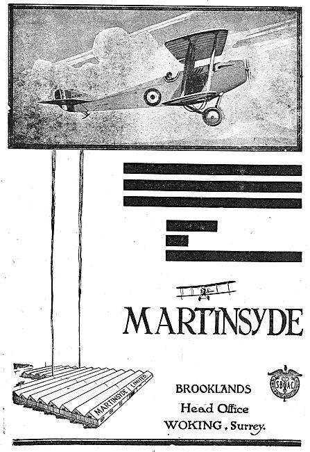 Martinsyde Aircraft: Brooklands Surrey