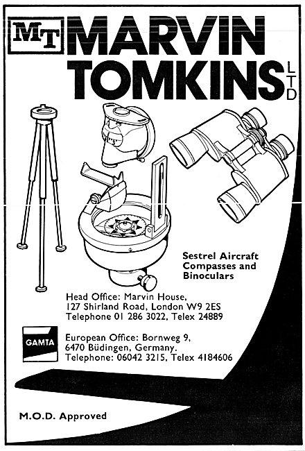 Marvin Tomkins Aeronautical Stockists