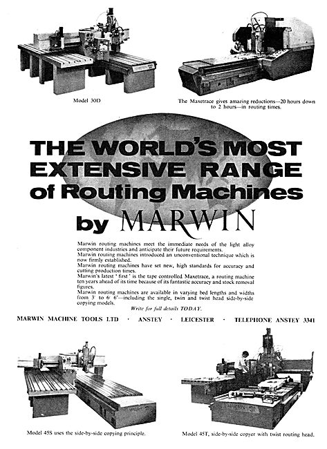 Marwin Machine Tools. Anstey. Routing Machines