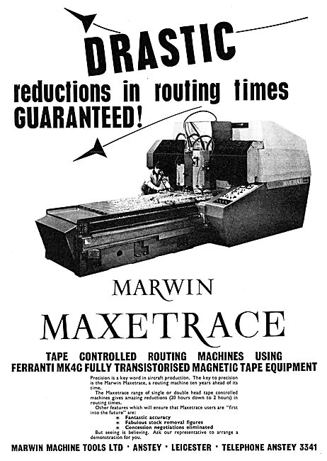 Marwin Machine Tools. MAXTRACE Tape Controlled  Routing Machines
