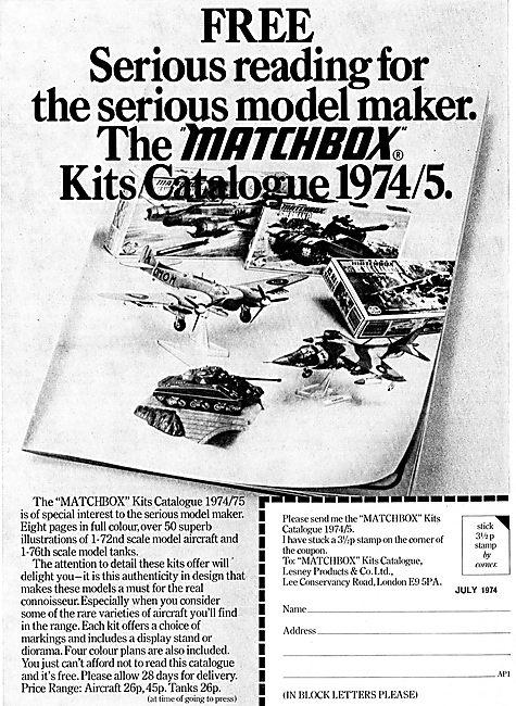 Matchbox Kits Catalogue 1974/75