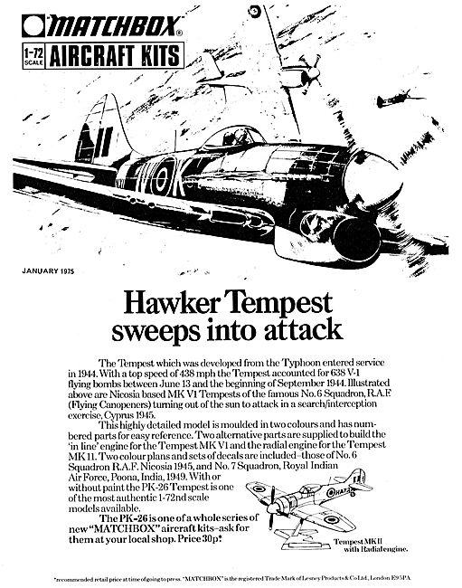 Matchbox Hawker Tempest Kit