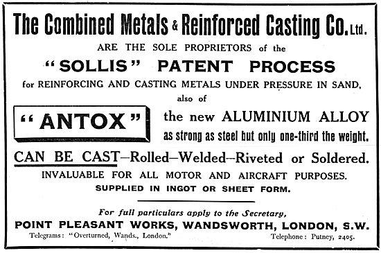 Combined Metals & Reinforced Casting. ANTOX Aluminium Alloys