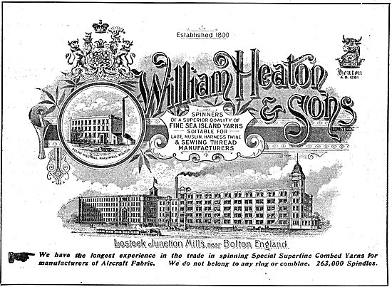 William Heaton & Sons. Spinners. Lostock Junction Mills, Bolton