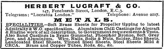 Herbert Lucraft & Co - Metals For The Aircraft Industry