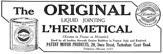 Patent Motor Products Original L'Hermetical Jointing Compound