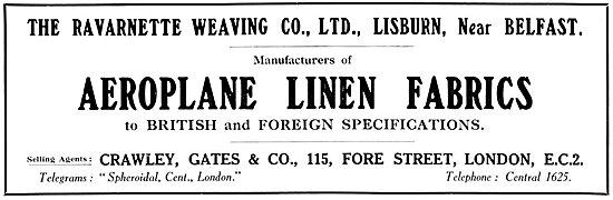 Ravarnette Aeroplane Linen Fabric 1925