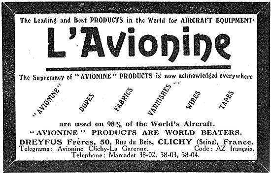 Dreyfus L'Avionine Aircraft Fabrics, Wires, Tapes & Cords