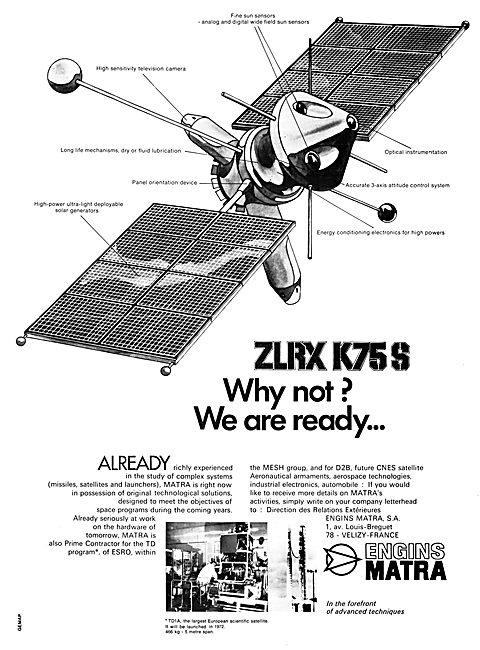 Matra ZLRX K75S - MATRA Space Technology 1970