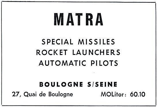 Matra Missiles & Rocket Launchers