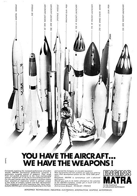 Matra Missiles & Rockets 1970